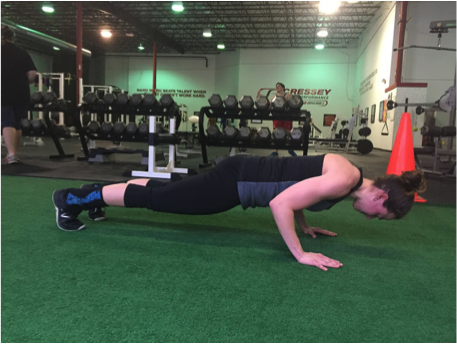 Nancy Push-up glute squeeze